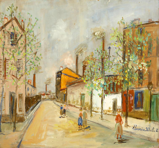 Maurice Utrillo (French, 1883-1955) Bourg-la-Reine 16 1/8 x 20 1/4in (41 x 51.5cm)
