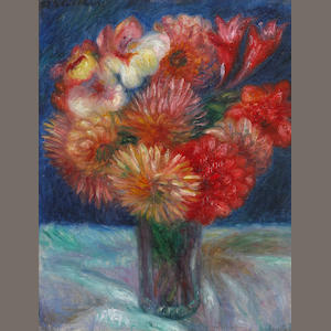 William Glackens (American, 1870-1938) Vase of flowers, circa 1920 12 1/2 x 9 3/4in