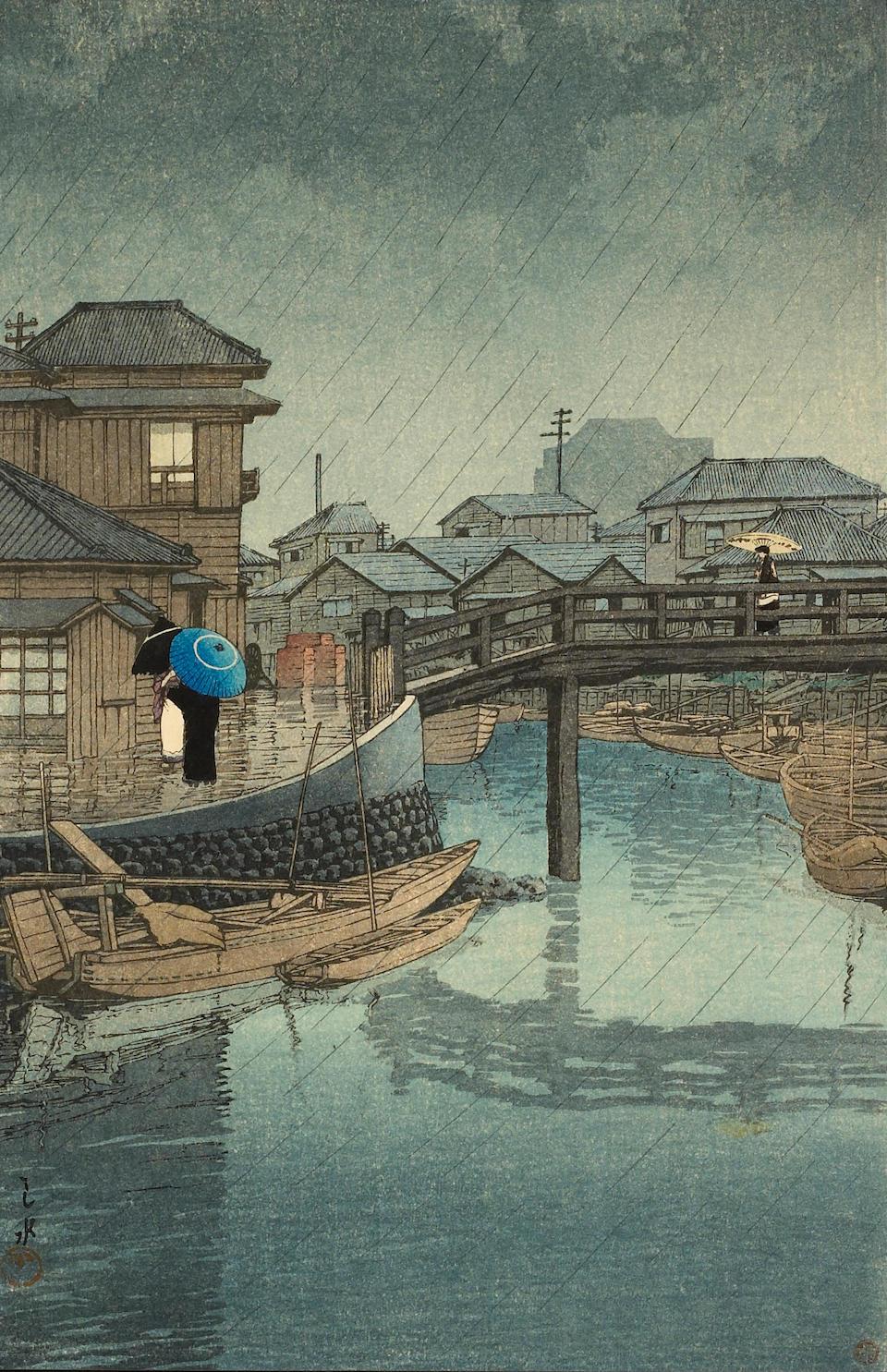 Bonhams : Kawase Hasui (1883-1957) Shinto Shrine of Kasuga at Nara
