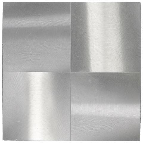 Getulio Alviani (Italian, born 1939) 4 quadrati 14x14 alternati orizzontali e verticali, c. 1963 10 13/16 x 10 13/16in (27.5 x 27.5cm)