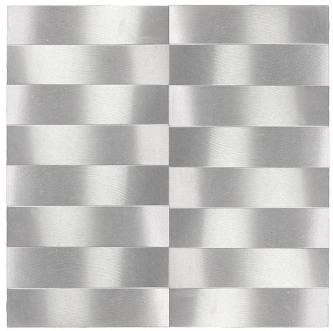 Getulio Alviani (Italian, born 1939) Superficie a testura vibratile, 1966 10 13/16 x 10 13/16in (27.5 x 27.5cm)