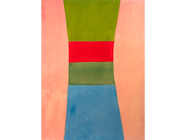 Jack Bush (Canadian, 1909-1977) Green Red Green Blue, 1965 72 x 53in (182.9 x 134.6cm)