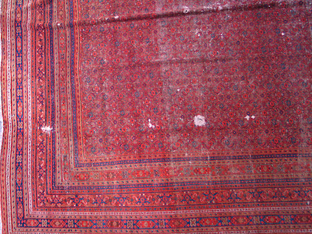 A Meshed carpet size approximately 9ft. 8in. x 13ft.