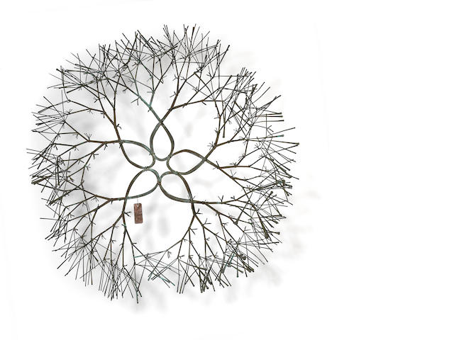 Ruth Asawa (American, born 1926) Untitled (Wall Mounted Tied Wire Sculpture), c. 1960 diameter 37in