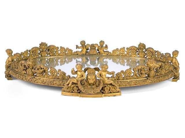 An impressive Napoleon III gilt bronze surtout de table  mid 19th century
