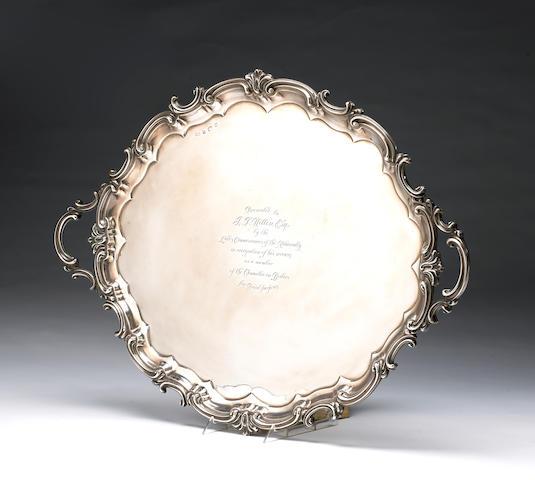 Edward VII Silver Tray by Elkington & Co., with Presentation Inscription