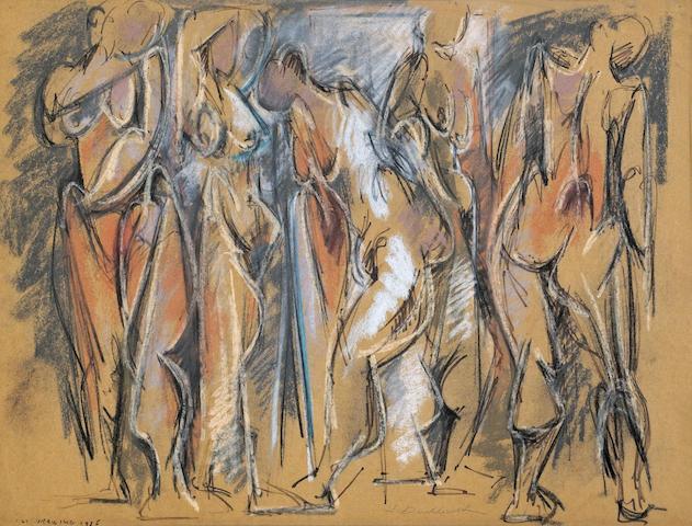 Hans Burkhardt (Swiss/American, 1904-1994) 1st Drawing, 1956