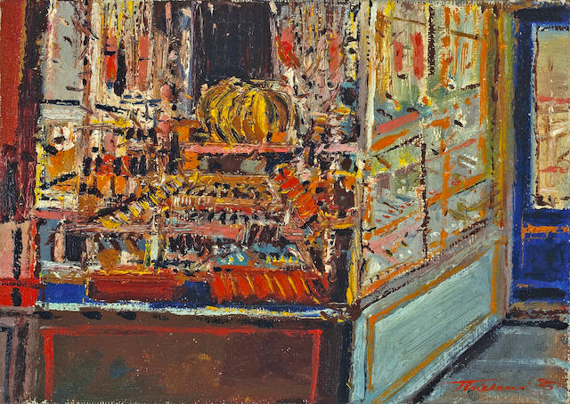 Wayne Thiebaud (American, born 1920) Third Avenue Store, 1956 12 x 17 1/4in