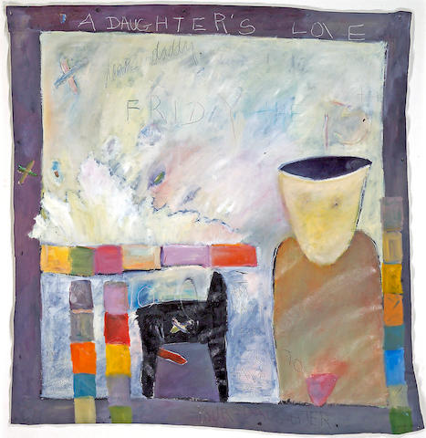 Squeak Carnwath (American, born 1947) A Daughter's Love, 1979 57 x 54in