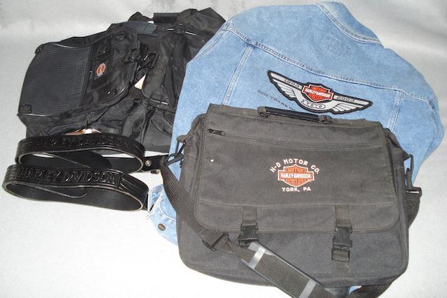 A Harley-Davidson '100 Years' denim jacket,