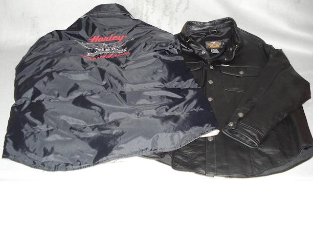 Two items of Harley-Davidson clothing,