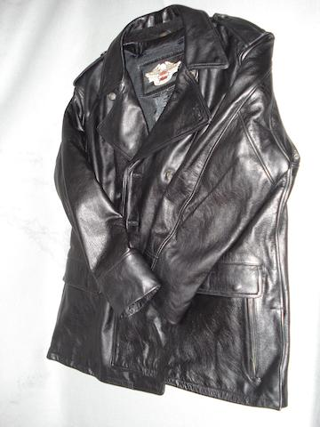 A Harley-Davidson leather coat,