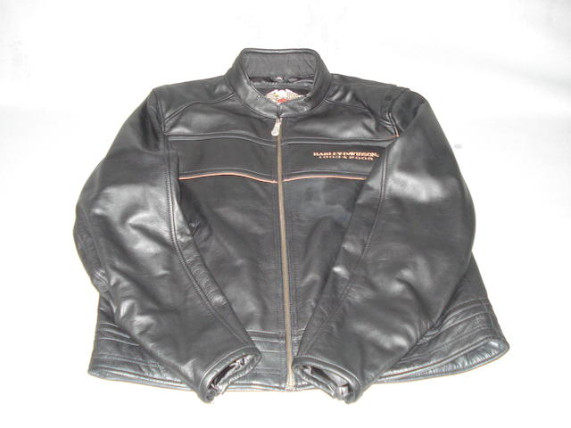 A '105 Years' Harley-Davidson commemorative leather jacket,