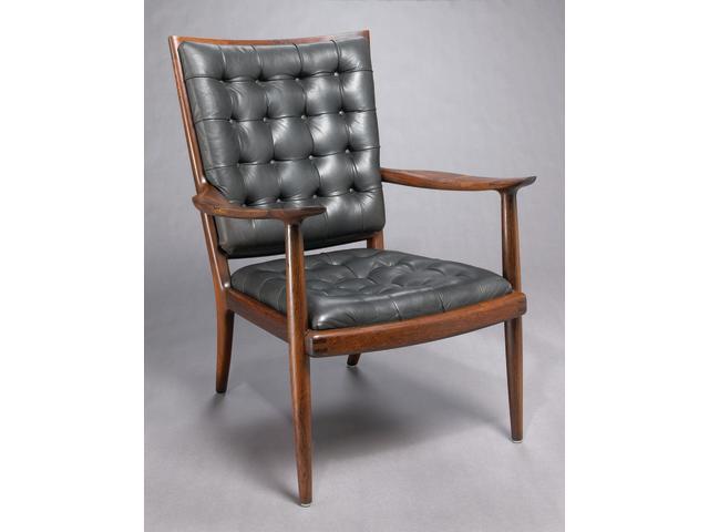 A Sam Maloof Brazilian rosewood armchair