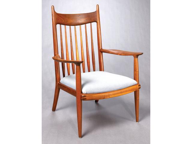 A Sam Maloof Walnut spindle armchair