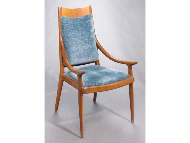 A Sam Maloof walnut armchair