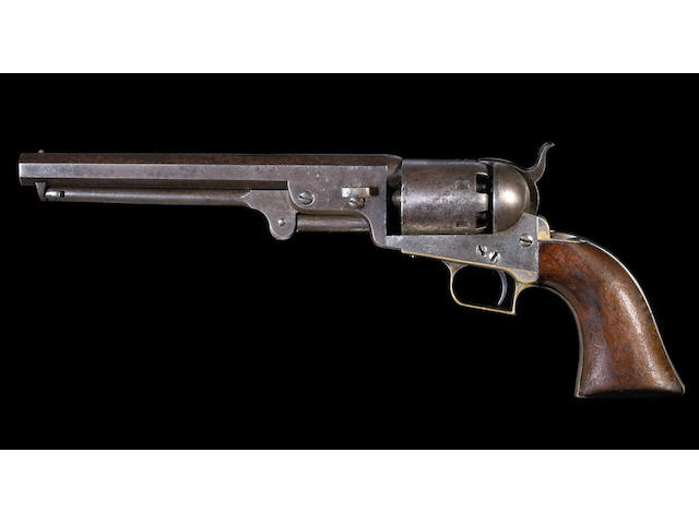 A rare U.S.-marked Colt 1st Model 1851 Navy 'squareback' percussion revolver