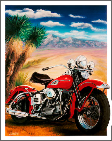 'Knucklehead & Yuccas', a limited edition Robert Carter print,