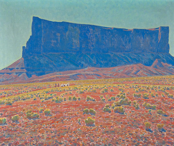 Maynard Dixon The Monument, Navajo Reservation, Arizona (No. 235), 1922