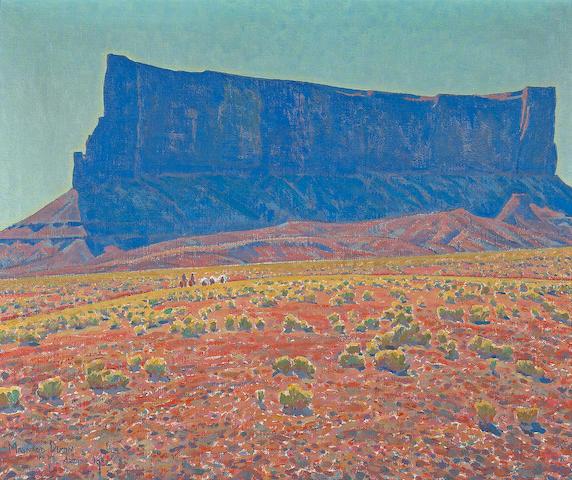 Maynard Dixon The Monument, Navajo Reservation, Arizona (No. 235), 1922