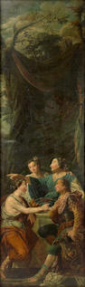 French School, 18th Century A figural study 105 x 32 1/2in