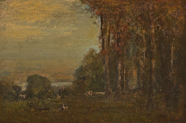 George Inness (American, 1825-1894) Near Montclair 16 x 24in