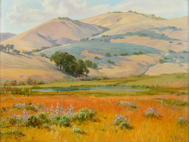 Albert Thomas DeRome (American, 1885-1959) Bloomquist Ranch, Carmel Valley 18 x 24in