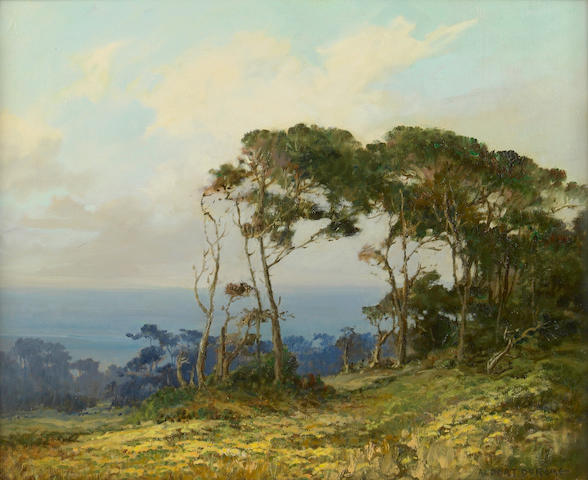 Albert Thomas DeRome (American, 1885-1959) Near Bird Rock, 17 Mile Drive 16 x 20in