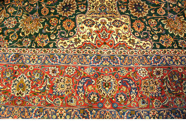 A Meshed carpet size approximately 13ft. x 19ft. 7in.