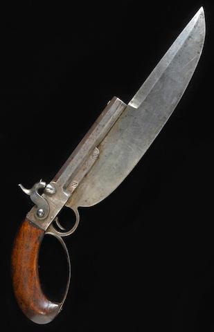 A rare U.S. Navy Elgin cutlass pistol by C.B. Allen