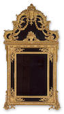 A Louis XV style overmantle mirror