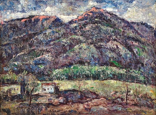 Ernest Lawson (American, 1873-1939) Sangre de Cristo Range, Colorado/New Mexico 11 3/4 x 15 3/4in