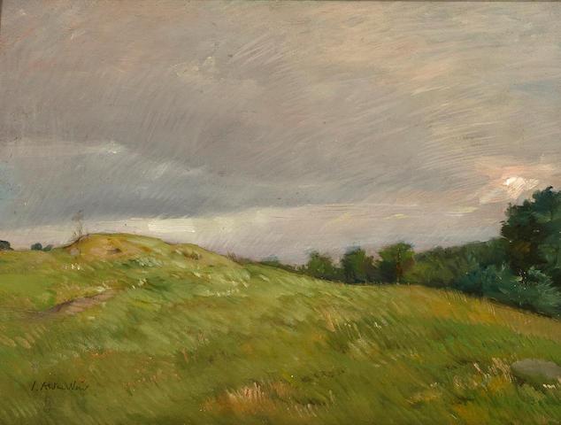 Julian Alden Weir (American, 1852-1919) Connecticut hilltops 12 x 16in