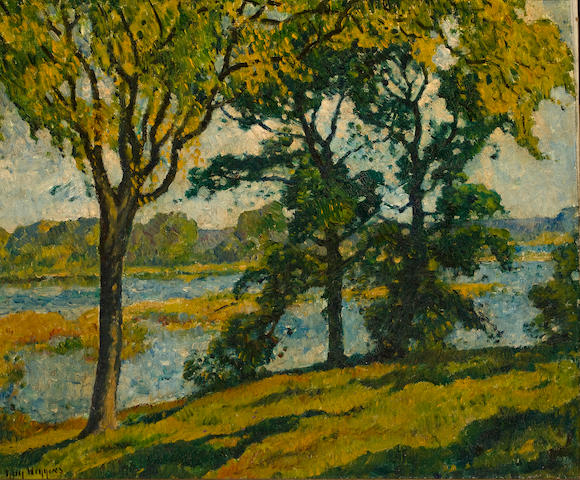 Guy Carleton Wiggins (American, 1883-1962) Connecticut River in Summer 25 1/4 x 30in