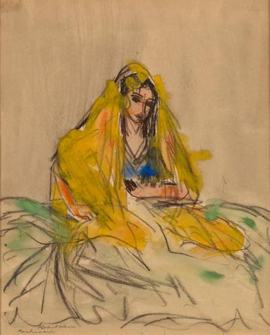 Robert Henri (American, 1865-1929) Roshanara 10 x 8 1/4in