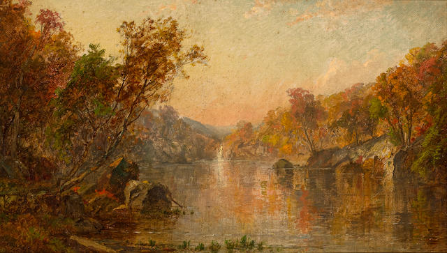 Jasper Francis Cropsey (American, 1823-1900) Ramapo valley 8 1/8 x 14 1/4in