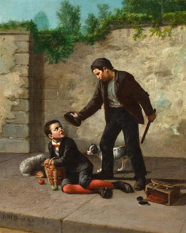 "James Henry Beard (American, 1812-1893) "" 'll yer gimme some? say!"" 27 x 22in"