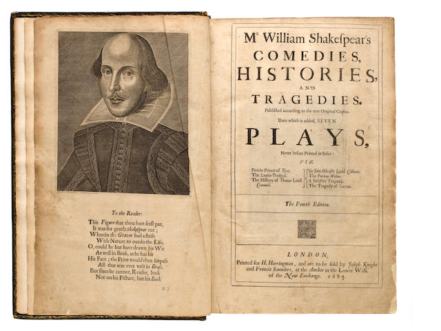 Shakespeare, William. Comedies, Histories, Tragedies. 1685.