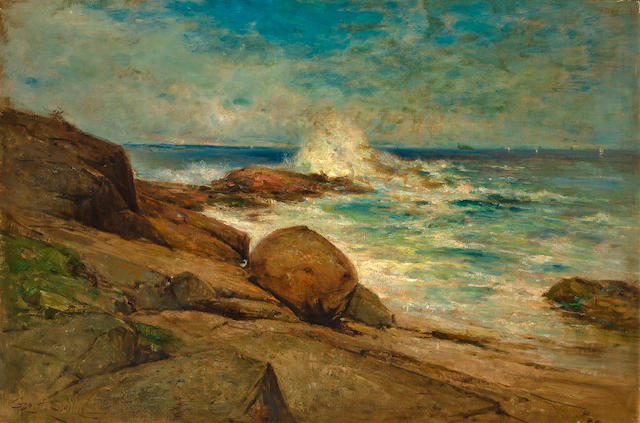 George Henry Smillie (American, 1840-1921) Marblehead Neck, Massachussets 30 x 45in