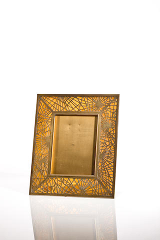 A Tiffany Studios Favrile glass and gilt bronze Pine Needle picture frame 1899-1918