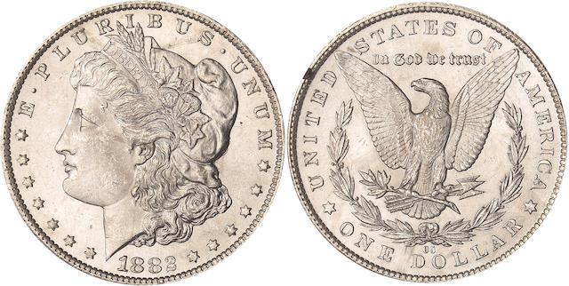 1882-CC S$1 GSA MS64 NGC