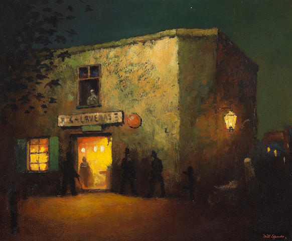 Will Sparks (American, 1862-1937) 'The Calaveras Bar, Old San Andreas' 14 x 17in