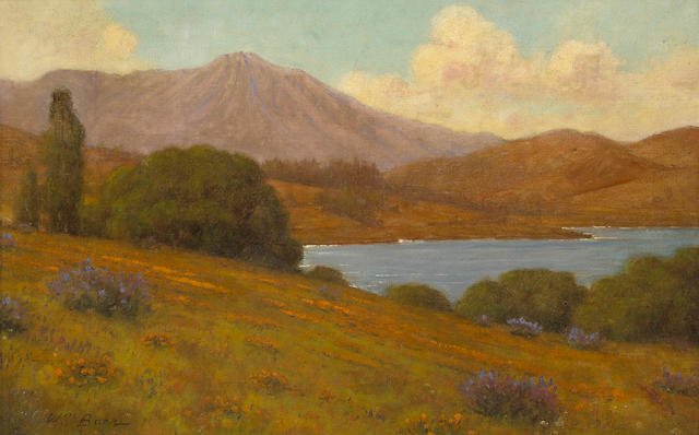 William Barr (British/American, 1867-1933) View of Mt. Tamalpais 14 x 22in