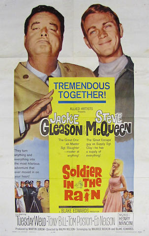 A 'Soldier in the Rain' movie poster, 1963,