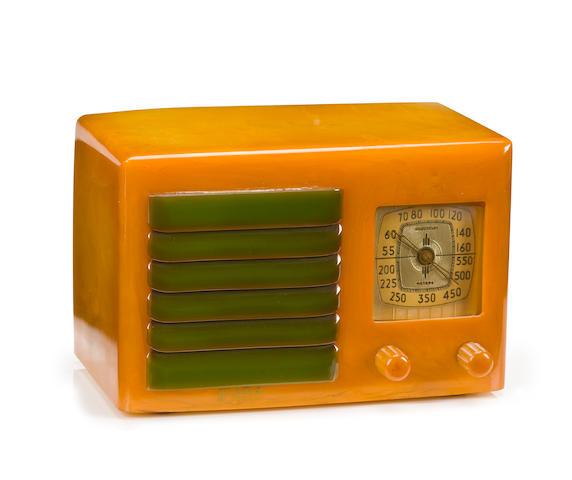 A Fada yellow 5F60AR radio circa 1936