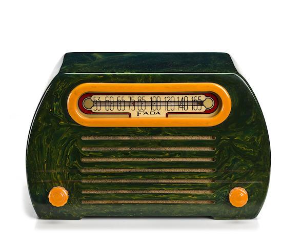A Fada green 652 Temple radio circa 1945