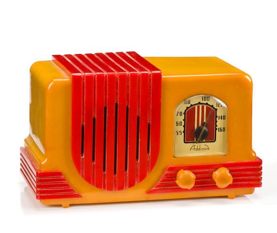 An Addison 2 Waterfall Grille radio circa 1940