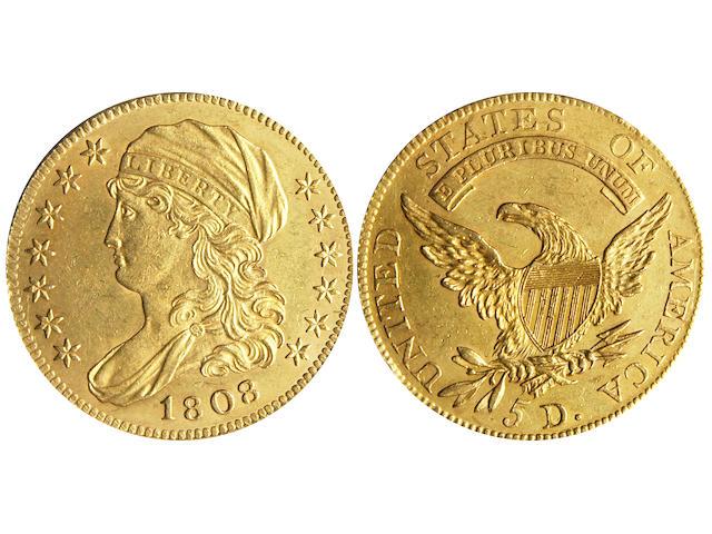 1808 $5 Half Eagle (PCGS 8102)