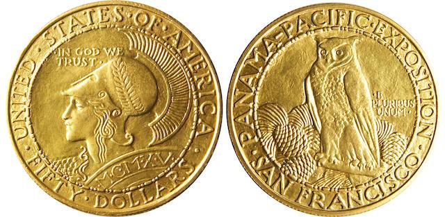 1915-S $50 Panama-Pacific Round (PCGS 7451)