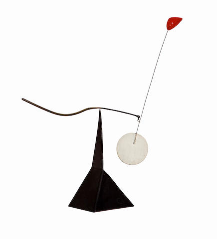 Alexander Calder (American, 1898-1976) Red Pennant, 1966 14 1/4 x 11 x 5in (36.2 x 28 x 12.7cm)